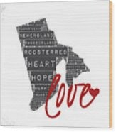 Rhode Island Love Wood Print