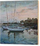 Rhodes Mandraki Harbour Wood Print