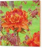 Rhododendron Flower Landscape Art Prints Floral Baslee Troutman Wood Print
