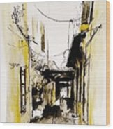 Rhodos City Wood Print