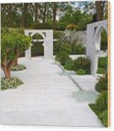 Rhs Chelsea Beauty Of Islam Garden Wood Print