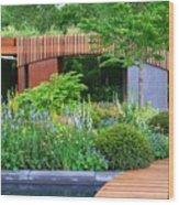 Rhs Chelsea Homebase Urban Retreat Garden Wood Print