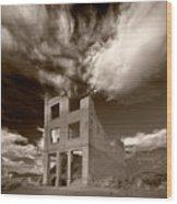 Rhyolite Nevada Ghost Town Wood Print