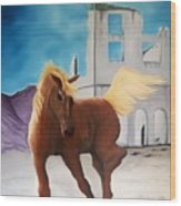 Rhyolite Pony Wood Print