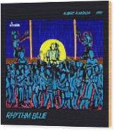 Rhythm Blue Wood Print