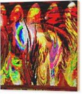 Rhythm Of The Dancing Fires Wood Print