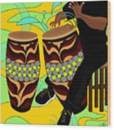 Rhythm Of The Drums Wood Print