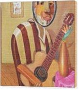 Rhythmic Echoes Wood Print