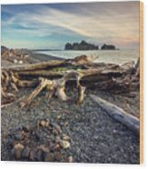 Rialto Beach Washington Wood Print