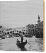 Rialto Bridge In Venice  Wood Print