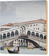 Rialto Bridge Wood Print