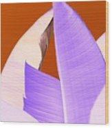 Ribbed In Violet Wood Print