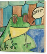 Ribbit Wood Print