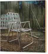 Ribbon Chairs Wood Print