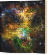 Ribbon Nebula Wood Print