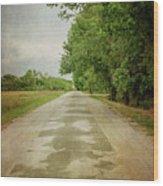 Ribbon Road - Sidewalk Highway Wood Print