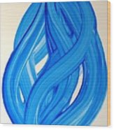Ribbons Of Love-blue Wood Print