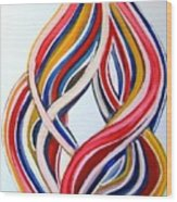 Ribbons Of Love-multicolour Wood Print