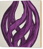 Ribbons Of Love-violet Wood Print