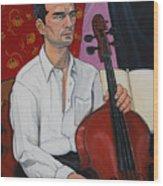 Ricardo With Cello Wood Print
