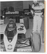 Riccardo Patrese. 1986 Spanish Grand Prix Wood Print
