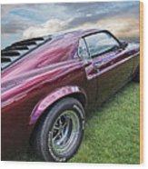Rich Cherry - '69 Mustang Wood Print