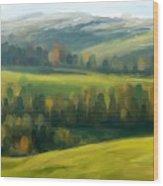 Rich Landscape Wood Print