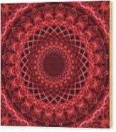 Rich Red Mandala Wood Print