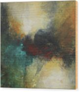 Rich Tones Abstract Painting Wood Print