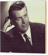 Richard Egan, Vintage Actor Wood Print