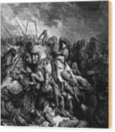 Richard I The Lionheart In Battle At Arsuf In 1191 1877 Wood Print