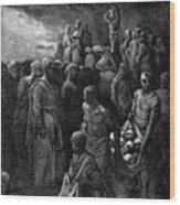 Richard I The Lionheart Massacres Captives In Reprisal 1877 Wood Print