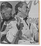 Richard Nixon Laughing Wood Print