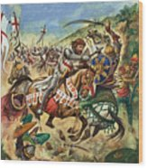 Richard The Lionheart During The Crusades Wood Print by Peter Jackson