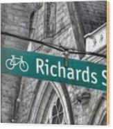 Richards Street Wood Print