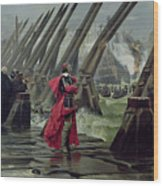 Richelieu Wood Print by Henri-Paul Motte