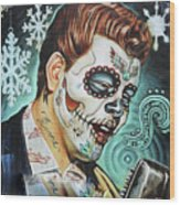 Richie Valens Day Of The Dead Wood Print