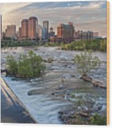 Richmond Evening Skyline I Wood Print