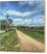 Richmond-lynchburg Stage Road, Appomattox, Virginia Wood Print