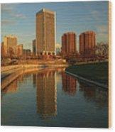 Richmond Skyline And Canal Wood Print