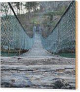 Rickety Bridge Wood Print