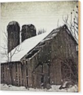 Rickety Old Barn Wood Print by Stephanie Calhoun