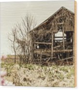 Rickety Shack Wood Print