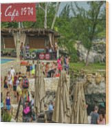 Rick's Cafe In Negril Wood Print