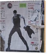 Ricky Martin In Concert Wood Print by Anna Villarreal Garbis