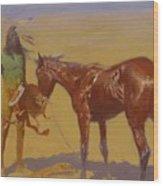 Ridden Down Detail 1906 Wood Print