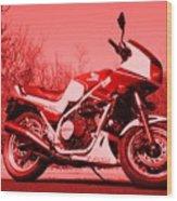 Ride Red Wood Print