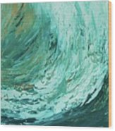 Ride The Wave Wood Print
