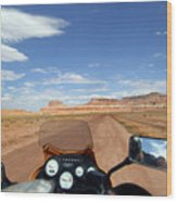 Ride To Little Wild Horse Slot Canyon Wood Print