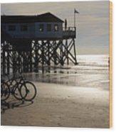 Ride Your Bike To The Beach Wood Print